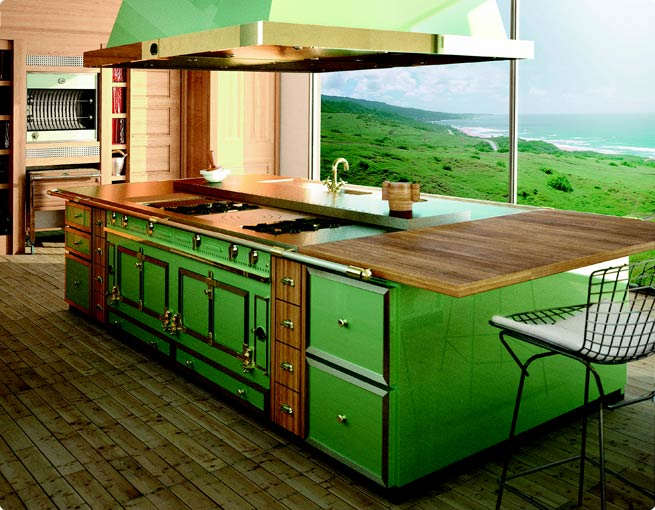 green kitchen traditional