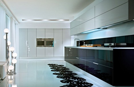 glossy modern kitchen