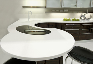 moulded corian bench top