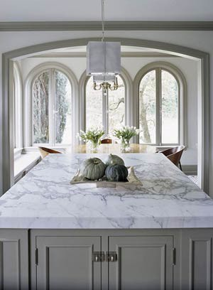 Kitchen benchtops marble