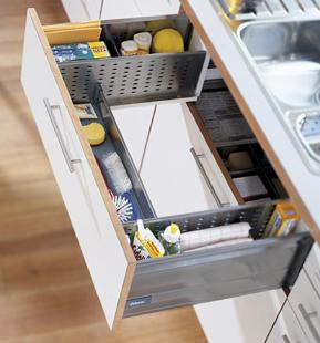 blum under sink drawer