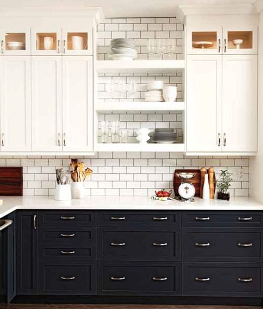 black and white traditional kitchen cabinetry