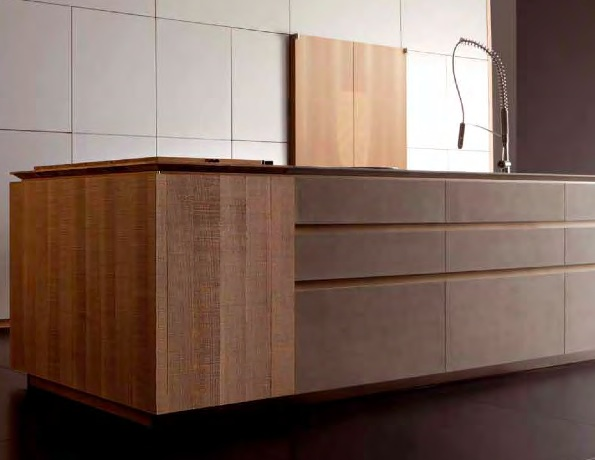 textured timber kitchen