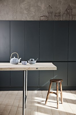 black satin kitchen