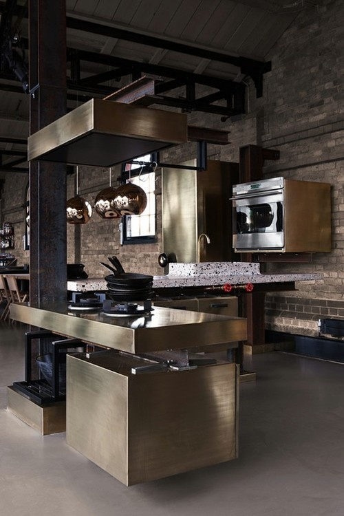brass kitchen tom dixon