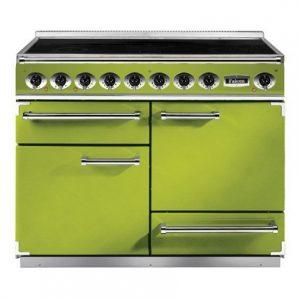 green kitchen oven