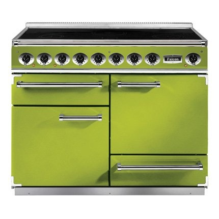 green kitchen oven