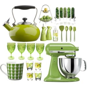 lime green kitchen items