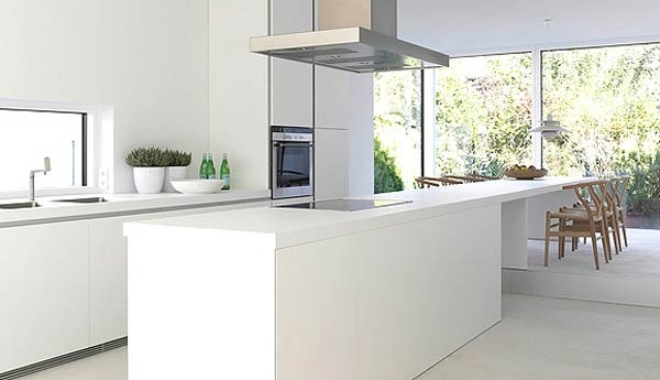kitchen range hood above island