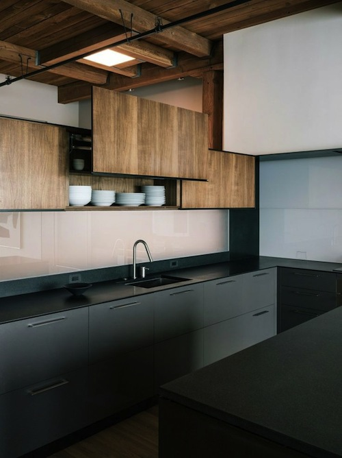 kitchen contrasting materials