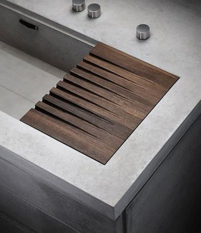 concrete sink detail