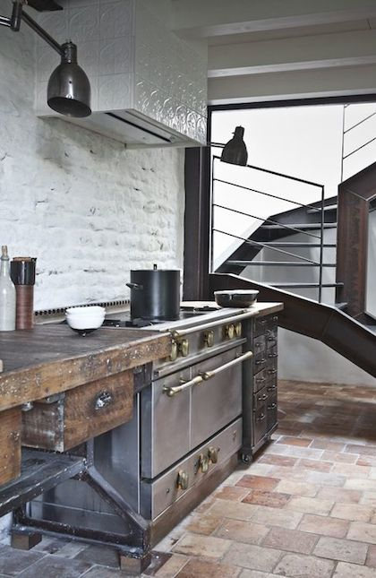 rustic industrial kitchen - Industrial Kitchen