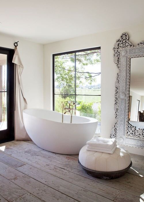 rustic modern bathroom design