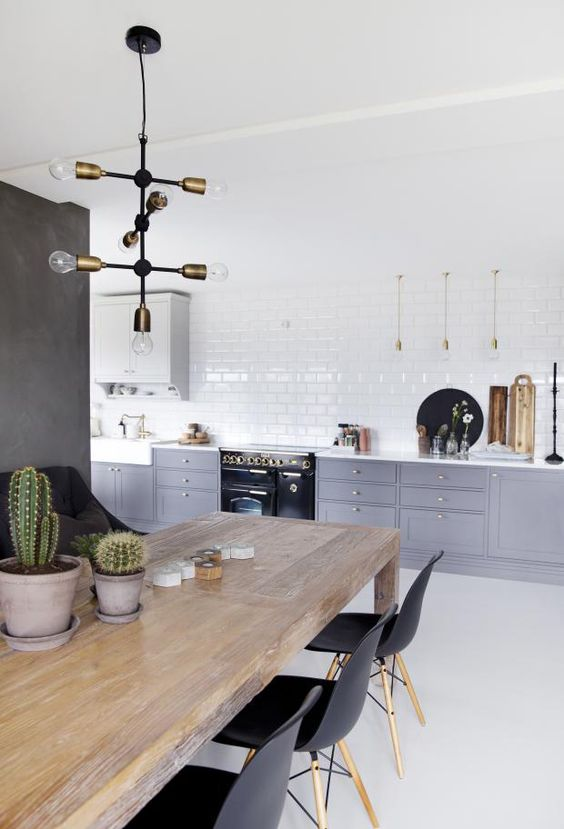 grey scandinavian kitchen design