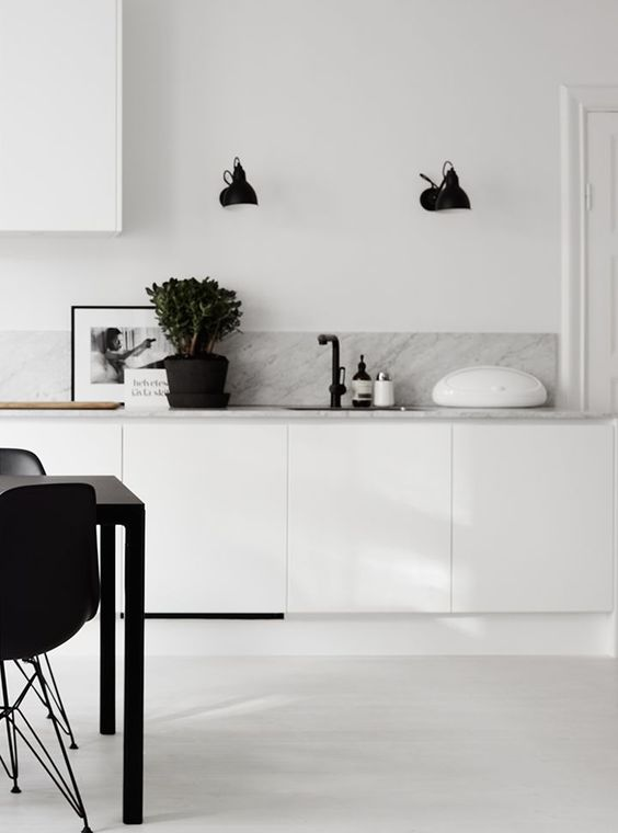 white scandinavian kitchen