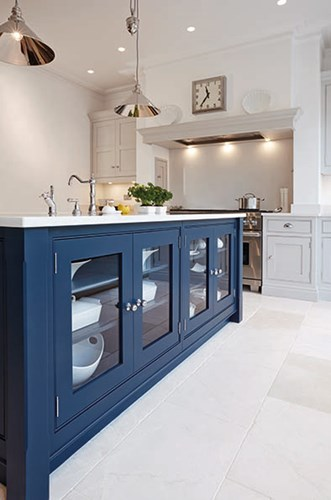 Navy kitchen island trend for 2016 by Tom Howley