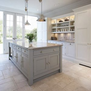 Pastel Hamptons Kitchen Island by Tom Howley