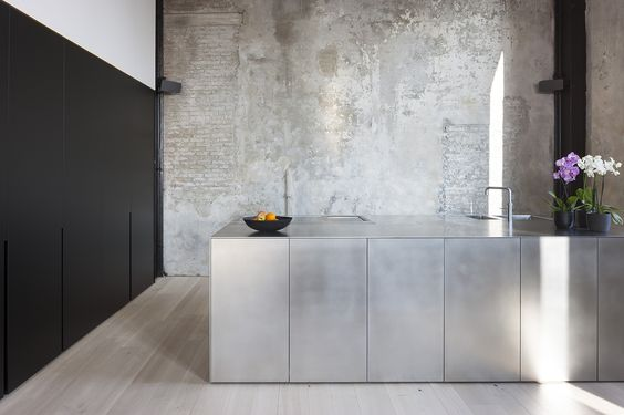 stainless steel kitchen by ILB | Blue Tea