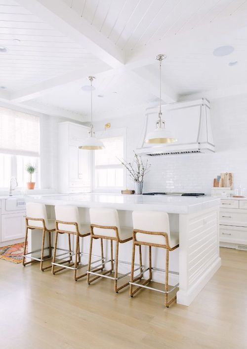 white modern farm style kitchen