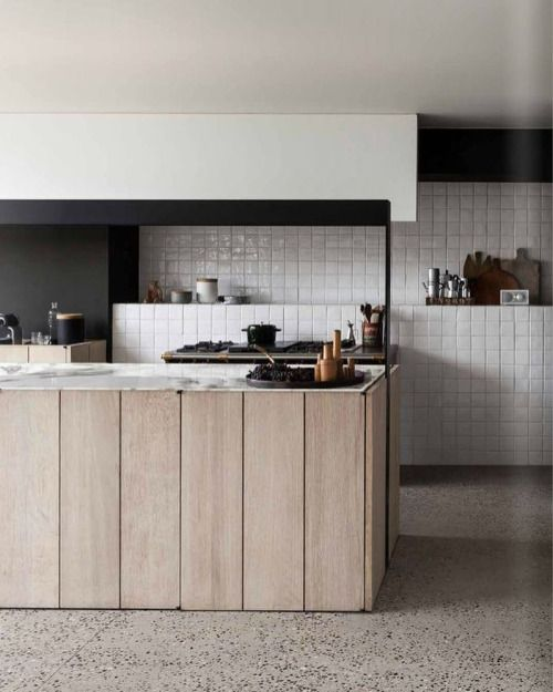 modern farm style kitchen with timber