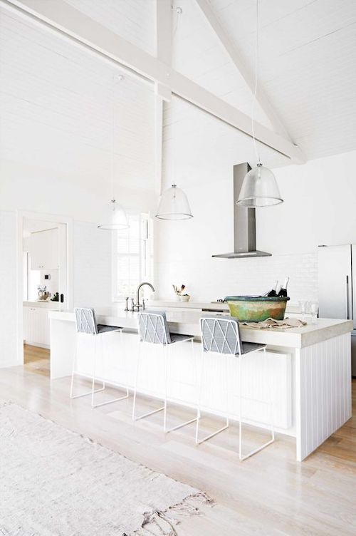 white open plan kitchen Farmstyle