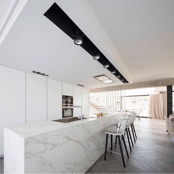 Carrara Marble Kitchen Benchtops
