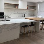 Neolith Estatuario benchtop and splashback