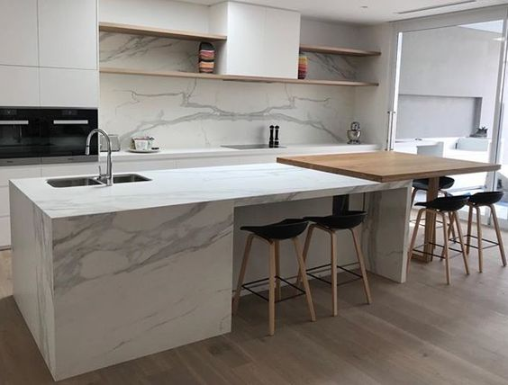 kitchen featuring Neolith Estatuario