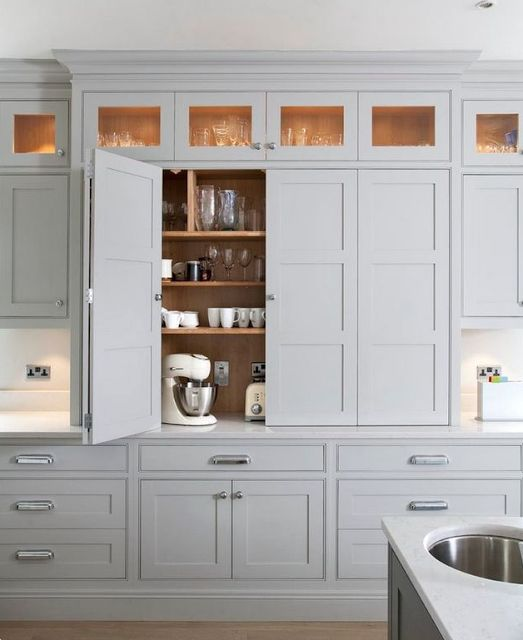 Bi Level Kitchen Designs: Pantry Design Idea's For Your New Kitchen