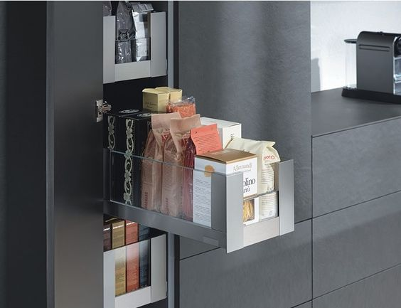 narrow pantry by Blum